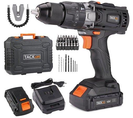 Tacklife - Akku-Schlagbohrschrauber PCD04B 18V (2 x 2,0 Ah Li-Ion) für 72,99€