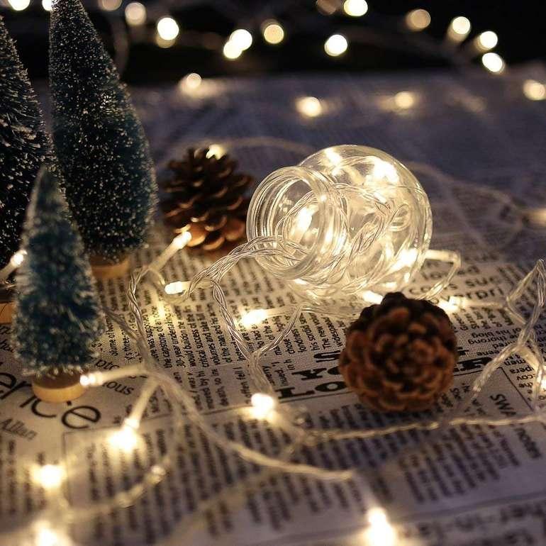 Huigou Lichterketten mit 30% Rabatt, z.B. 10m mit 100 LEDs für 7,69€