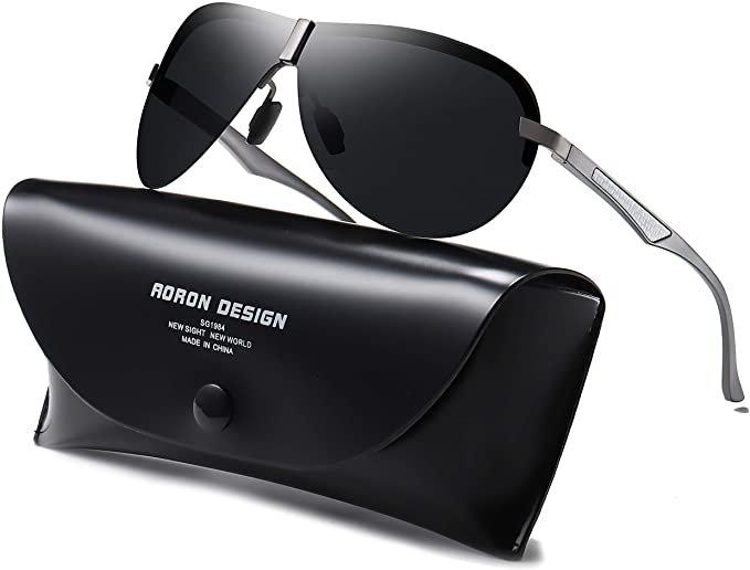 Aoron - polarisierte Herren Sonnenbrille mit UV400-Schutz für 5,59€ inkl. Prime Versand (statt 18€)