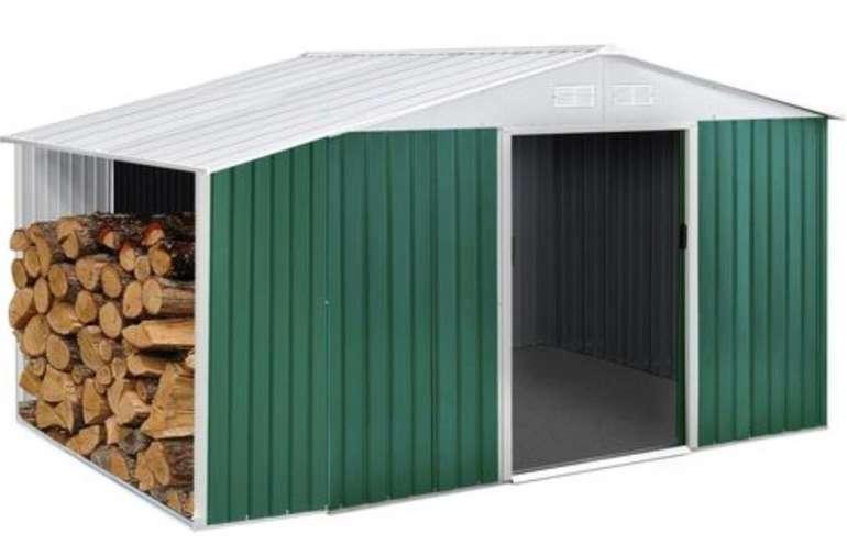 """Preisfehler? Gartenhaus """"Rosas"""" aus Metall (7,06 m²) mit Holzunterstand für 97€ inkl. Versand (statt 494€)"""