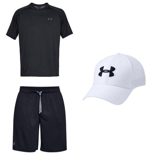 3-teiliges Under Armour Freizeit Outfit (Shirt, Short & Kappe) für 35,99€ (statt 51€)