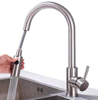 Homelody 2-Strahlen Wasserhahn (ausziehbar) für 39,99€ inkl. Versand (statt 79€)