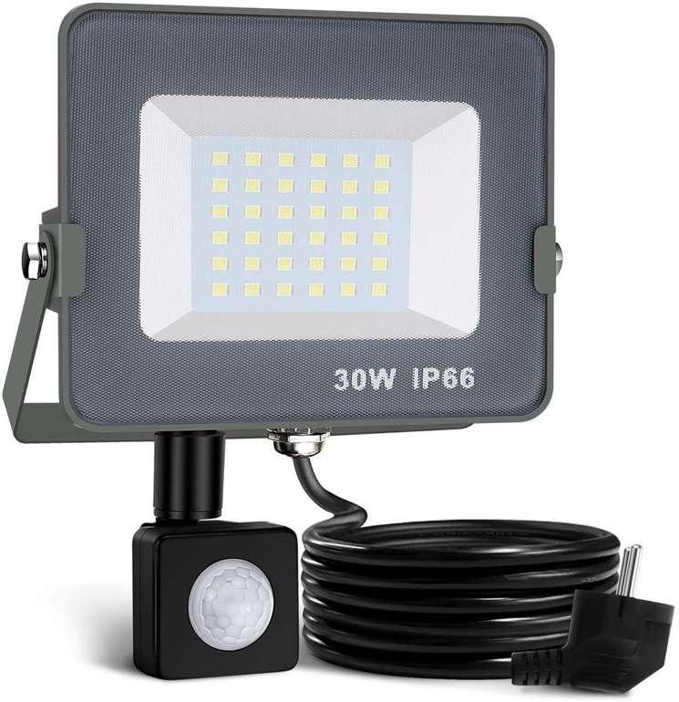Elfeland LED Außenstrahler mit Bewegungsmelder (30W, 2000 LM, 6000K) für 14,69€ inkl. Prime Versand (statt 21€)