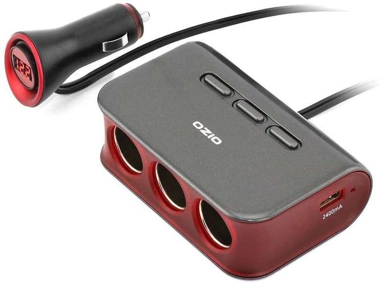 Cofit 3-fach KFZ-Verteiler (70W, Dual USB) für 11,89€ inkl. Prime Versand (statt 17€)