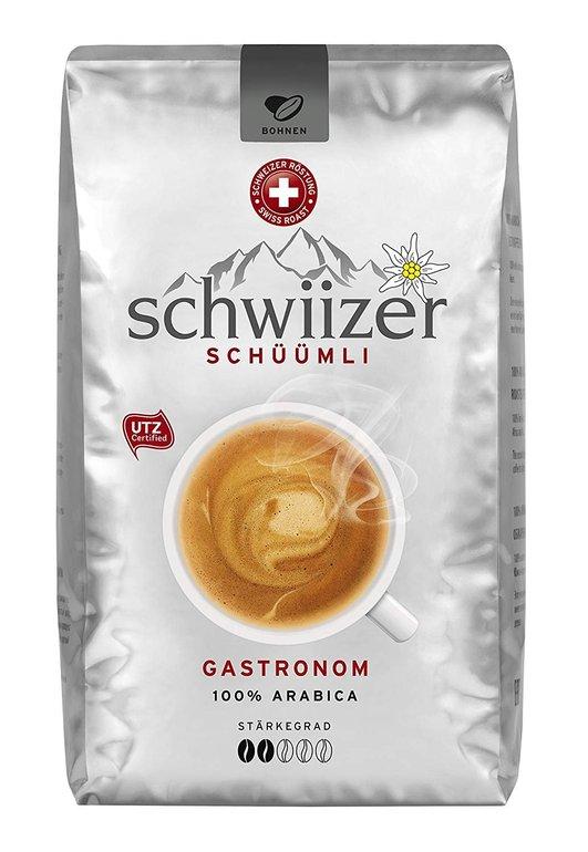Schwiizer Schüümli Gastronom ganze Kaffeebohnen 500 Gramm je 5,99€ inkl. Versand