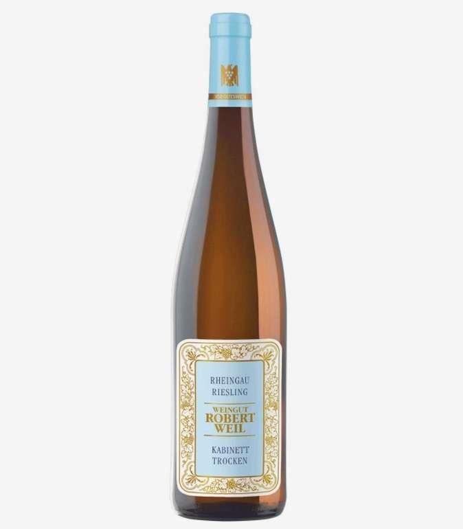 3 Flaschen Robert Weil Riesling Kabinett Rheingau (trocken, weiß, je 0.75 Liter) für 45,63€ (statt 63€)