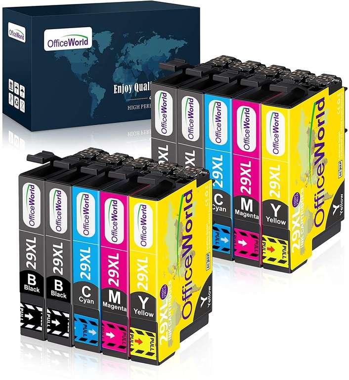 OfficeWorld 10er Pack Epson 29XL Ersatz Patronen für 8,64€ inkl. Prime Versand (statt 17€)