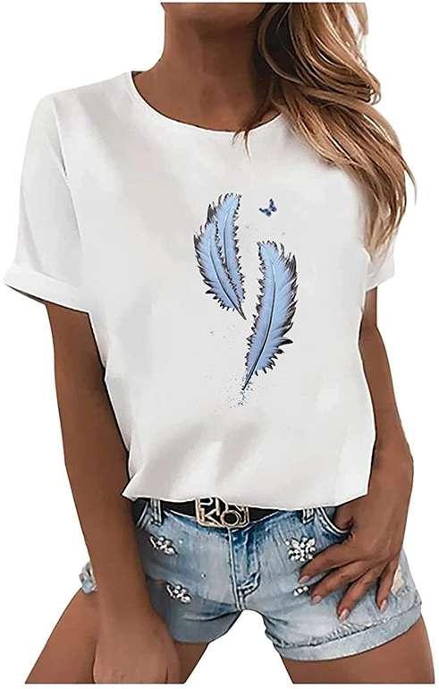 Paomian Damen Print T-Shirts ab 5,70€ inkl. Versand (statt 7€)