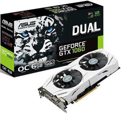 Asus Grafikkarte GeForce GTX 1060 Dual OC 6gb für 207,99€ inkl. VSK (statt 299€)
