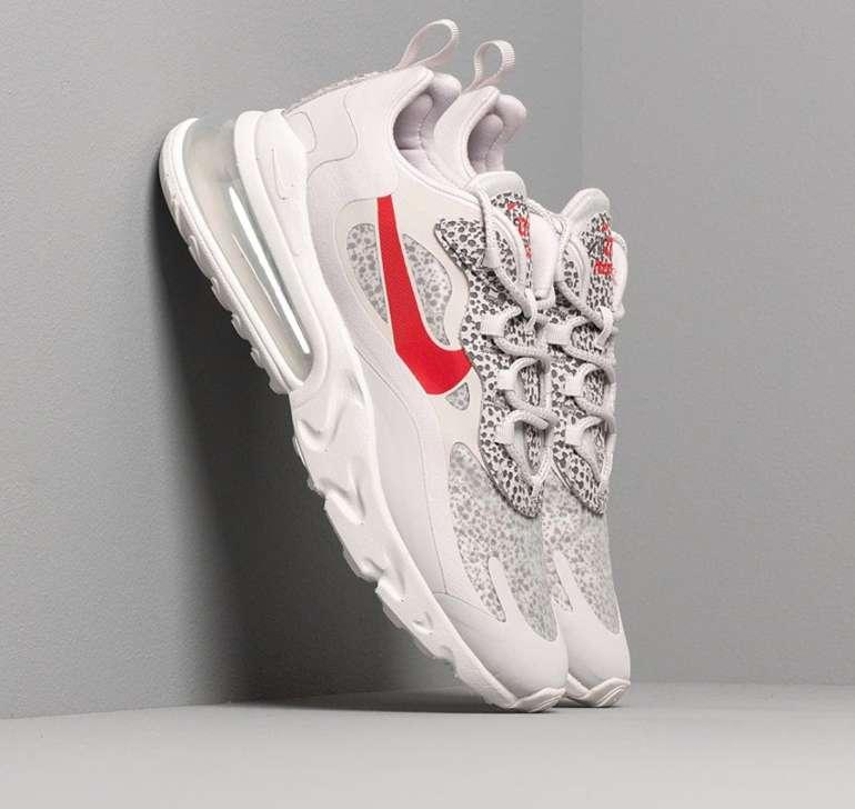 """Nike Air Max 270 React Herren Sneaker im """"neutral grey/university red/lt graphite""""-Colourway für 70€ (statt 91€)"""