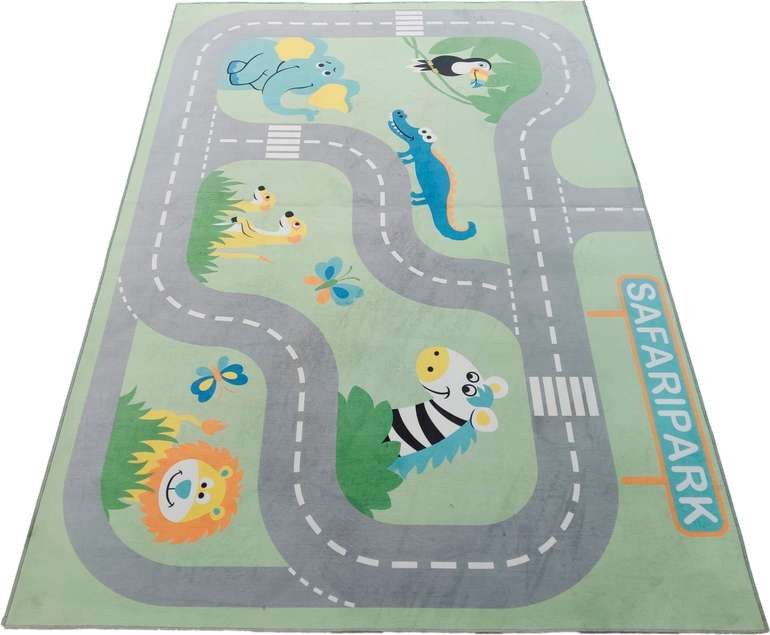 "Kinderteppich ""Safari"" (160 cm x 230 cm x 6 mm) für 31,53€ inkl. Versand (statt 76€)"