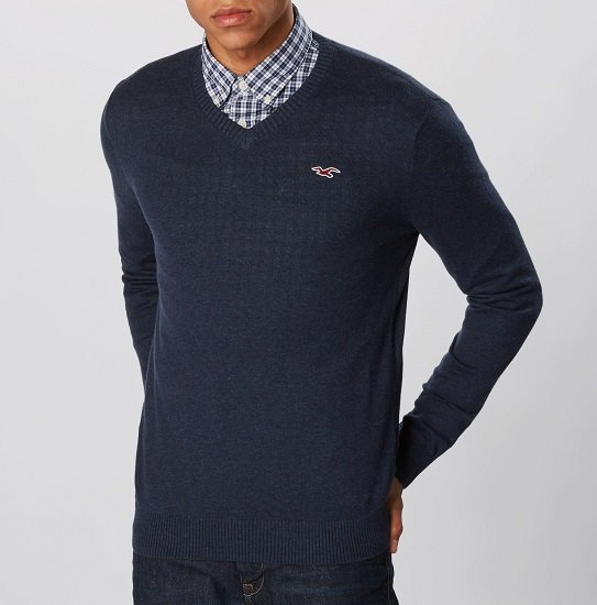 Top! Hollister Pullover 'Core' in navy (S, M & L) für 23,92€ (statt 38€)