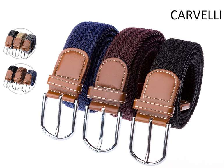 3er Set Carvelli Gürtel (elastisch & stufenlos verstellbar) für 25,90€ inkl. VSK