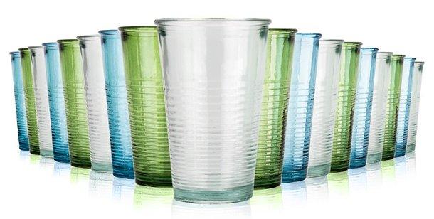 Jamie Oliver 18 teiliges Gläser-Set aus recyceltem Glas für 22,12€ (statt 29€)