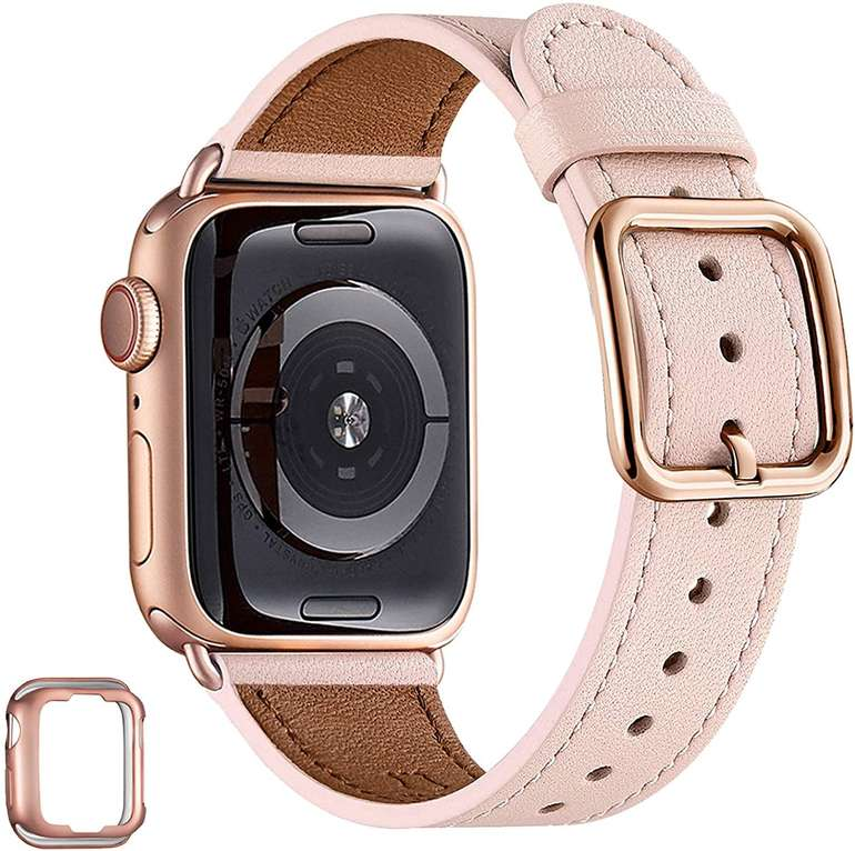 Mnbvcx verschiedene Leder Armbänder (Apple Watch kompatibel) ab 5,60€ inkl. Prime Versand