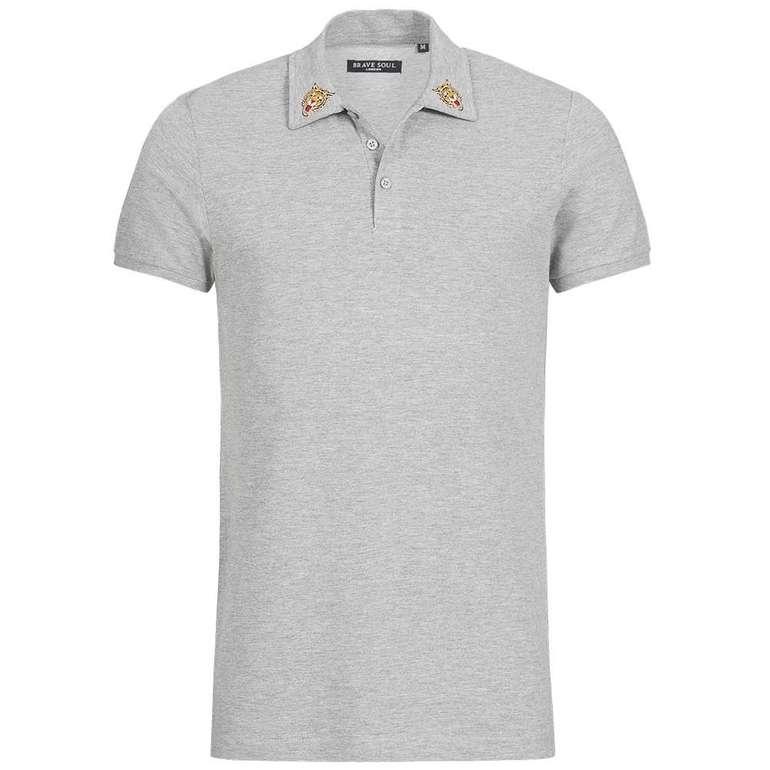 Brave Soul Venom Herren X3 Button Polo-Shirt für je nur 5,55€ zzgl. VSK