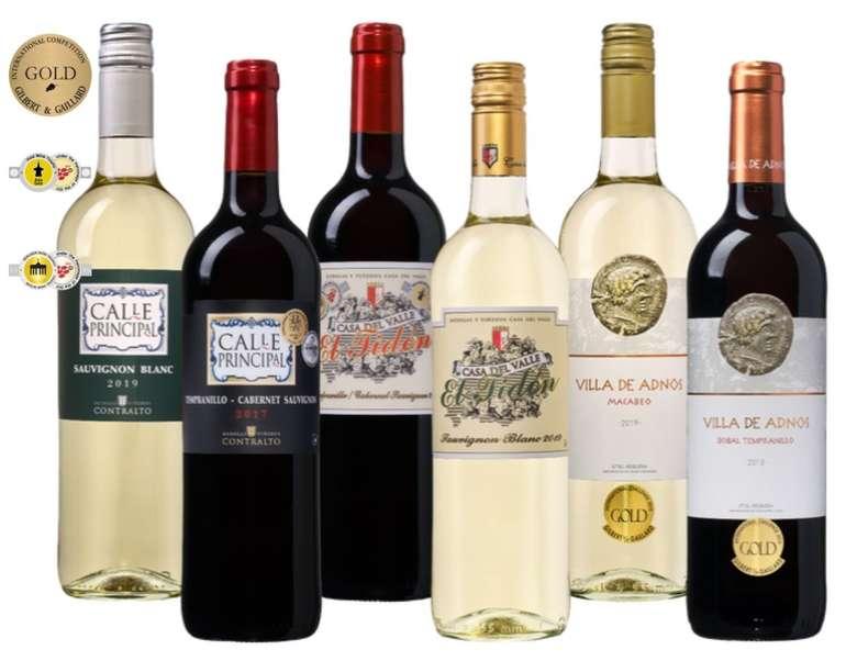 WeinVorteil.de: Weinpaket Spanische Medaillenweine für 29,99€ inkl. Versand (statt 55€)