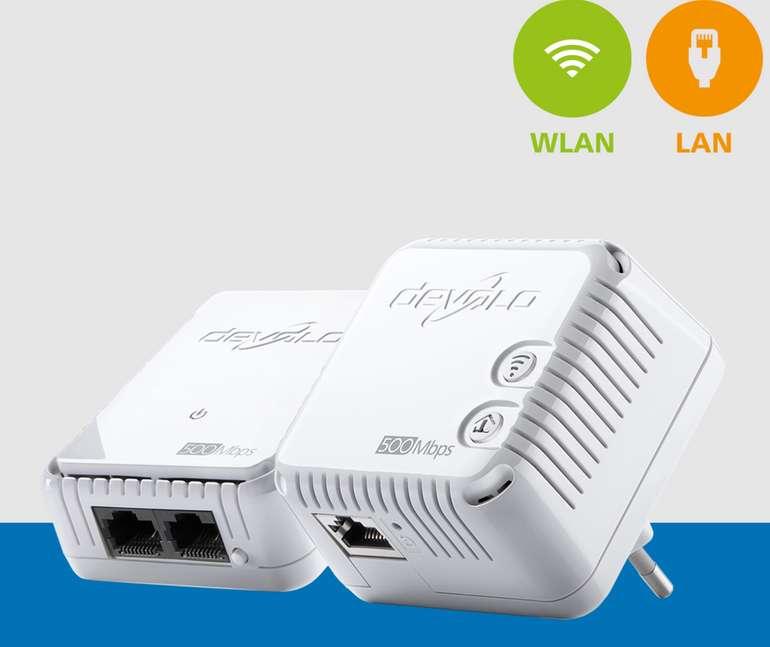 devolo dLAN 500 WiFi Powerline Starterkit mit 500 Mbps für 46,49€inkl. Versand (statt 85€) - B-Ware!