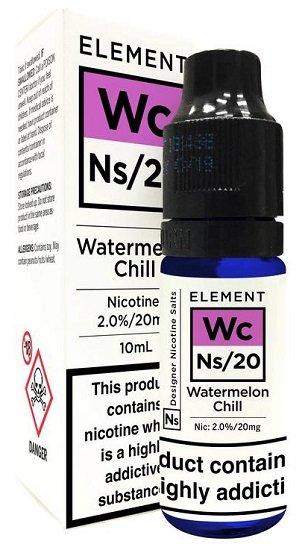 10ml Element Watermelon Chill Liquid 20mg Nic Salts für 3,46€ zzgl. VSK (+2  Mojo Pods ab 20€ Bestellwert)