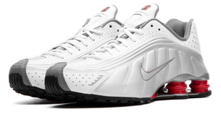 Nike Shox R4 Sneaker im White/Comet Red Colourway für 109,90€ (statt 149€)