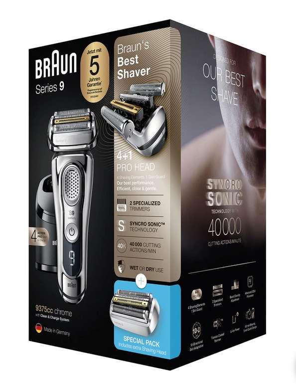 Braun Series 9 (9375cc) Wet&Dry Rasierer + Scherteil für 239€ inkl. Versand (statt 260€)