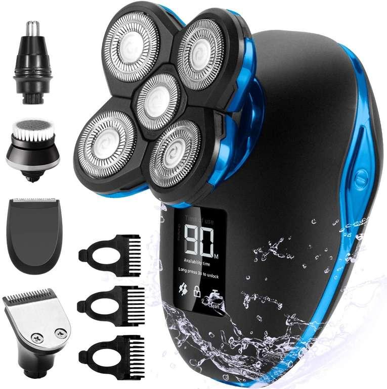 OriHea elektrischer 5-in-1 Rasierer mit LED Display für 27,99€ inkl. Versand (statt 34€)