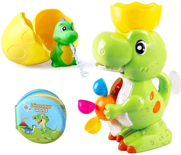 BeebeeRun Dinosaurier-Duschspielzeug-Set (Spielzeug, Buch, Tasse, Brunnen) für 9,99€ inkl. Prime Versand (statt 23€)