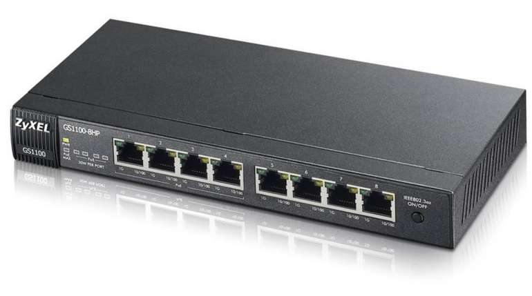 Zyxel GS1100-8HP - 8-Port PoE Gigabit Switch für 64,90€ inkl. VSK (statt 94€)