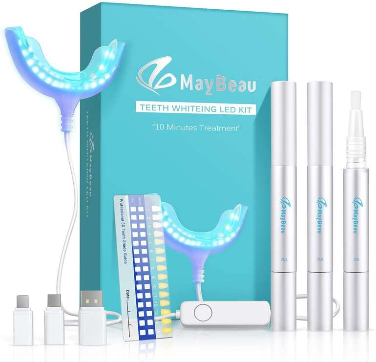 MayBeau Teeth Whitening Kit (Zahnaufhellung, Bleaching) für 16€ inkl. Versand (statt 40€)
