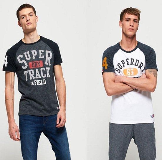 Superdry Trackster Baseball Herren T-Shirts für je nur 13,95€ (statt 21€)
