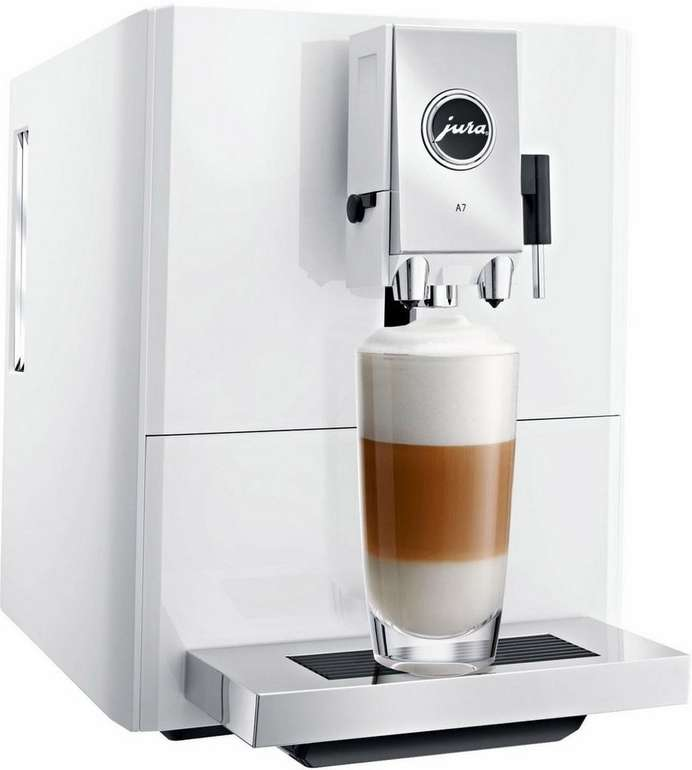 Jura A7 Kaffeevollautomat in Piano White für 599€ inkl. VSK (statt 729€)