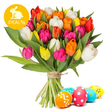BlumeIdeal: 28 bunte Tulpen im Strauß für 19,98€ inkl. Versand