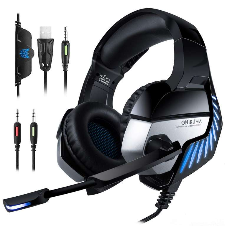 Onikuma Gaming Headsets mit LED Beleuchtung (PC, Xbox, PS4, zwei Modelle) ab 4,89€ (Prime)