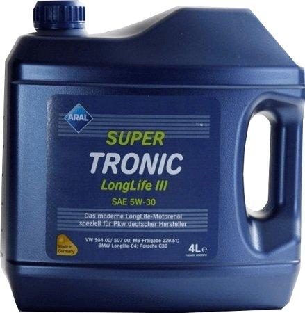 4 liter aral super tronic longlife 3 5w 30 f r 9 28 inkl. Black Bedroom Furniture Sets. Home Design Ideas