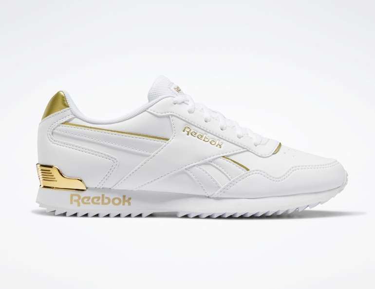 Reebok Royal Glide Ripple Clip Damen Sneaker in weiß-gold für 33,15€ inkl. Versand (statt 51€)