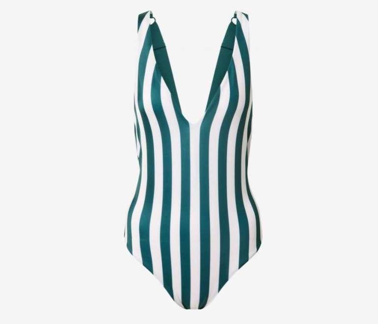 Hunkemöller Badeanzug Santa Rosa in Smaragd/Weiß für 32,90€ inkl. Versand (statt 41€)