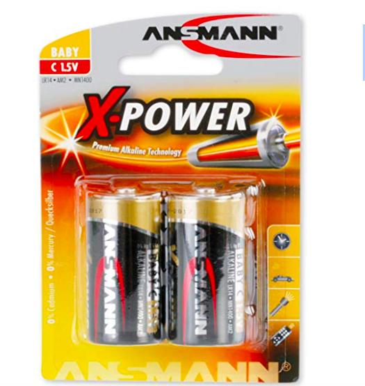 Preisfehler? 2x Ansmann X-Power Alkaline Batterie Baby C LR14 Longlife ab 1€