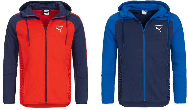 Puma Pace Net Colorblock Full Zip Herren Sweatjacke