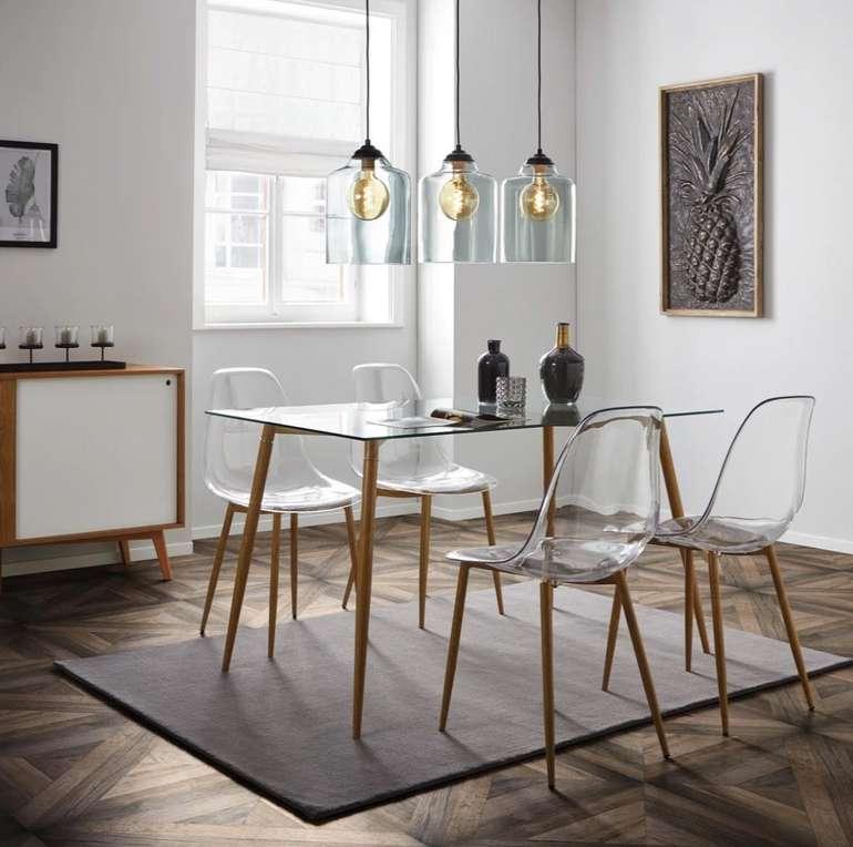"""Bessagi Home """"Vinnie"""" Esstisch (140x80cm) mit Glasplatte für 69,30€ inkl. Versand (statt 140€)"""
