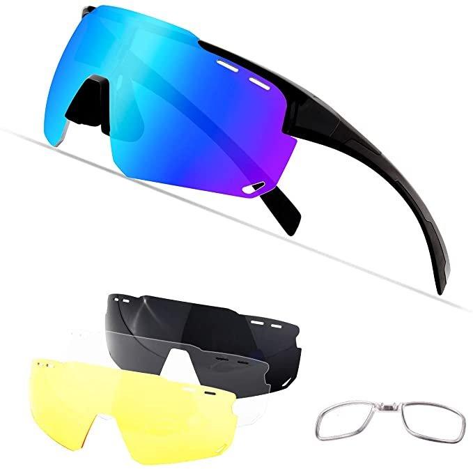 Ouliqi polarisierte Fahrradbrillen mit Wechselgläsern ab 6,99€ inkl. Prime Versand (statt 20€)