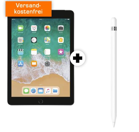 Apple iPad 2018 (32GB, LTE) + Pencil + 5GB Vodafone LTE Flat für 19,99€ mtl.