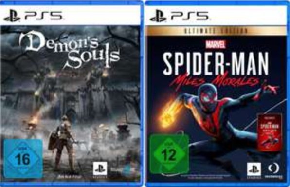 Marvel's Spider-Man: Miles Morales Ultimate Edition (inkl. Marvel's Spider-Man: Remastered) + Demon's Souls (PS5) für 90,99€