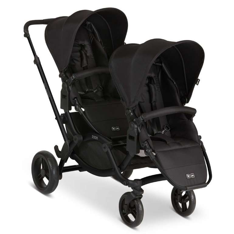 ABC Design Geschwisterwagen Zoom Black/Black für 391,29€ inkl. Versand (statt 454€)