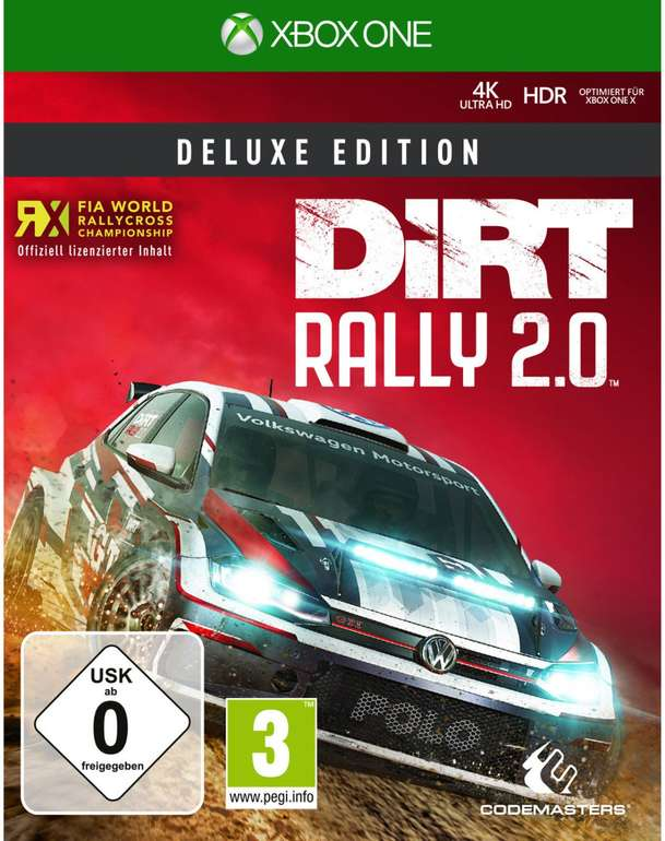 Dirt Rally 2.0 - Deluxe Edition (Xbox One, Playstation 4) für je 31,99€ inkl. VSK