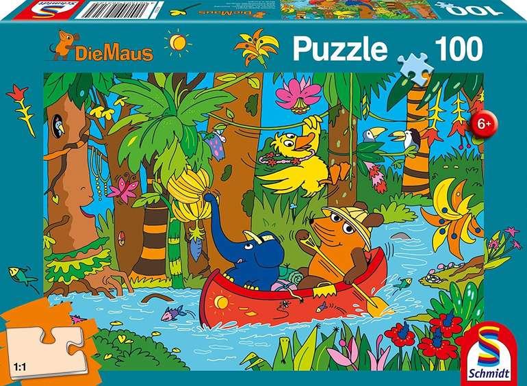 Schmidt-Spiele Puzzle: Die Maus - im Dschungel (100 Teile) für 5,29€ inkl. Prime Versand (statt 8€)