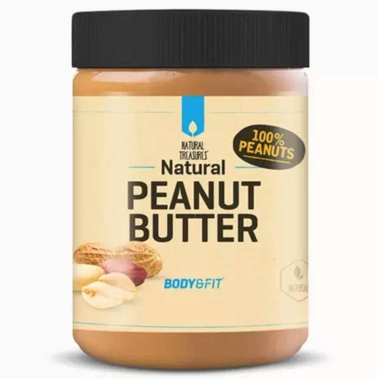 Body & Fit: 1kg Peanut Butter (Neutral/Crunchy) (Erdnussmus, Erdnussbutter) für 4,58€ - Newsletter Gutschein!