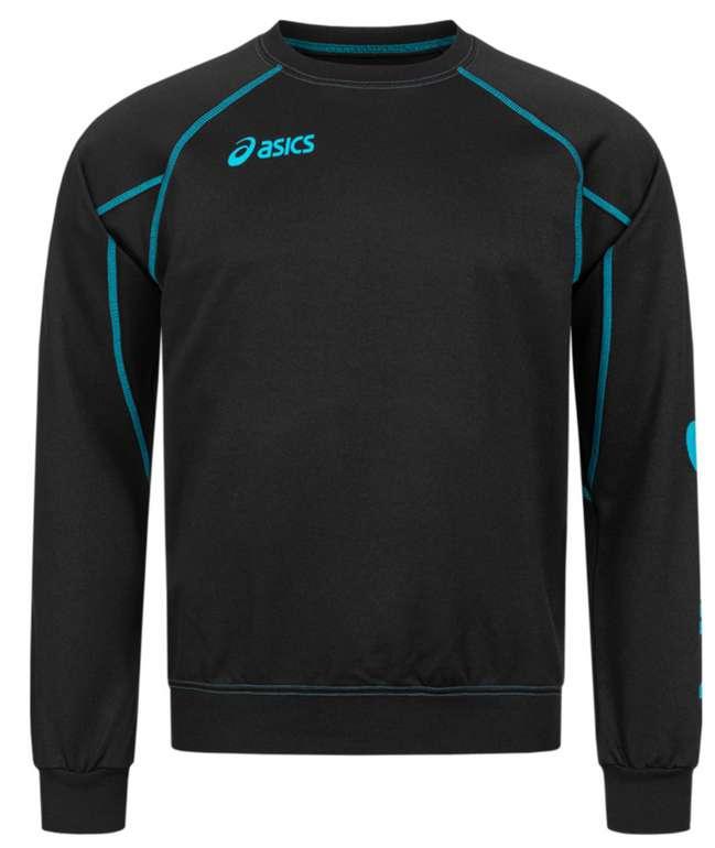 """Asics """"Alpha Sweat"""" Herren Sport Sweatshirt in schwarz-blau für 18,34€inkl. Versand (statt 25€)"""