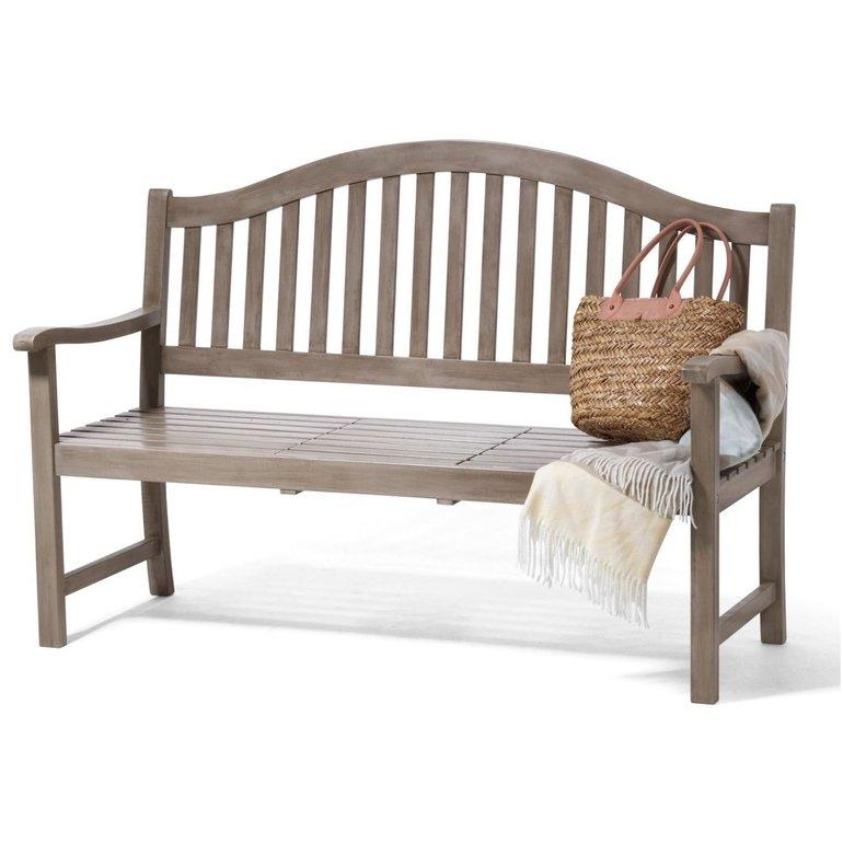 3-Sitzer Gartenbank Bank mit hochklappbarem Tisch in grau für 129,99€ inkl. Versand