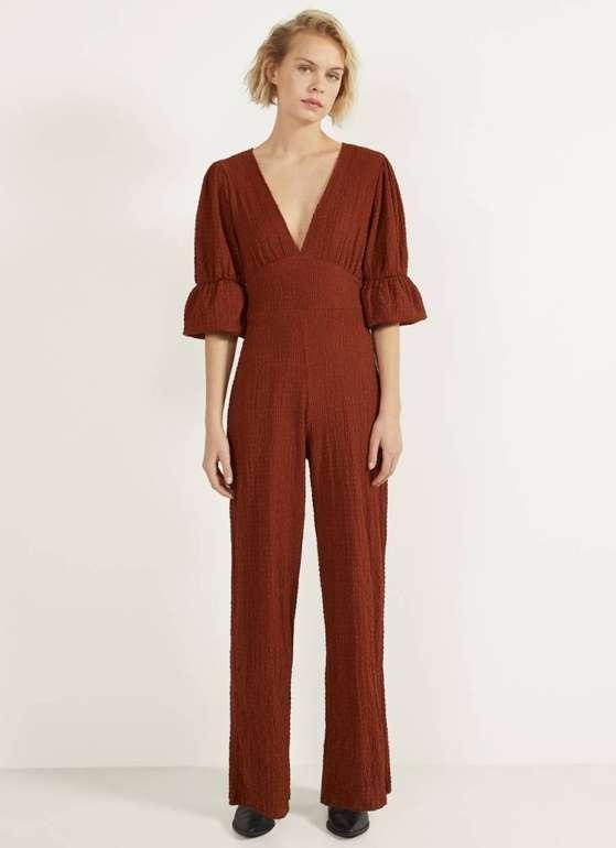 Bershka langer Jumpsuit mit Textur in 2 Farben für je 11,74€ inkl. Versand (statt 30€)