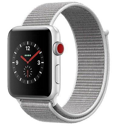 Apple Watch Series 3 (GPS + Cellular) 42mm Aluminiumgehäuse zu 279€ (statt 377€)